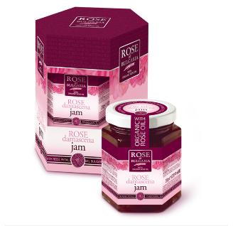 Джем с розовым маслом и лепестками роз 230 гр