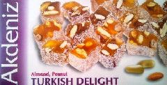 турецкий лукум с арахисом и миндалем