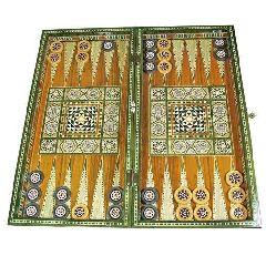 Набор для игры в нарды с перламутровым дизайном - Tavla
