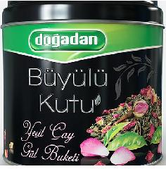 Чай Догадан Волшебный ларец зеленый с лепестками роз