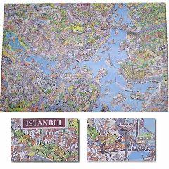 Карта Стамбула в стиле мультфильмов