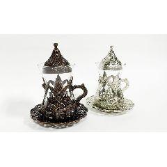 чайный набор турецкие стаканчики + металл