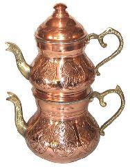 Турецкий медный двойной чайник