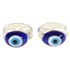 Dark Blue Evil Eye Ring