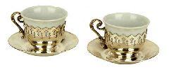 Серебрянный набор чашек для турецкого кофе