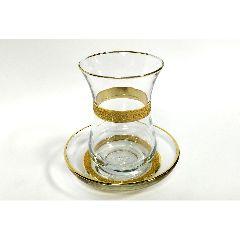 Армуды (стаканчики) турецкие чайные с позолотой