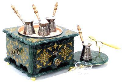 """Элитный набор """"Падишах"""" с кофемашиной из мрамора"""