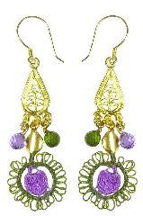 Серьги Purple & Green Harmony