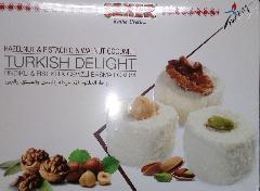 Локум турецкий с орехами (фисташки, грецкий орех, фундук) 450 гр