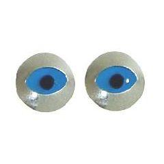 Серьги Evil Eye в серебрянном обрамлении