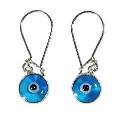 Серьги серебрянные с боджуком (Evil Eye)