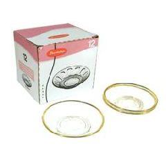 Блюдца стеклянные чайные (с золотой каймой) 6 шт