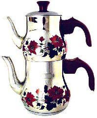 Турецкий чайник с цветным орнаментом