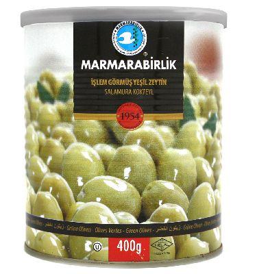 Оливки зелёные Коктейльные в рассоле 400 гр