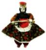 Doll - Authentic Wool Spinning Girl (Kirmenli Soganli Otantik Bez Bebek)
