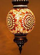 Восточный подвесной мозаичный светильник