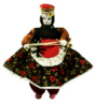 Doll - Authentic Wool Spinning Girl (Kirmenli Soganli Otantik Bez Bebek)